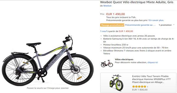 vélo électrique Weebike Le Quest